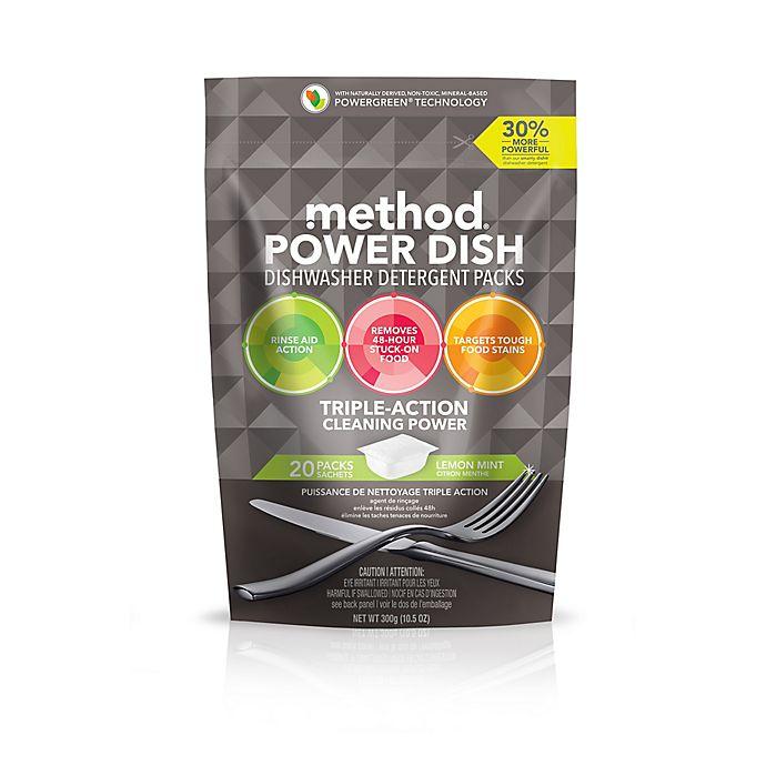 Alternate image 1 for Method® 20-Count Lemon Mint Power Dish Dishwasher Detergent Packs