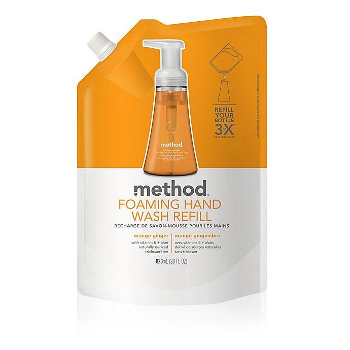 Alternate image 1 for Method® Orange Ginger 28 oz. Foaming Hand Wash Refill