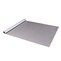 Diamond Deck® Roll Out Flooring Car Mat in Metallic Silver
