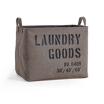 Danya B. Army Canvas Laundry Basket in Olive Green