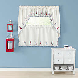 Lighthouse Kitchen Window Curtain Tiers and Valance