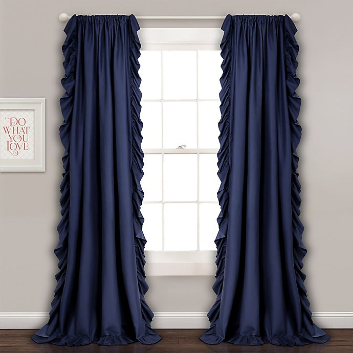 Alternate image 1 for Reyna Light Filtering Rod Pocket Window Curtain Panel Pair