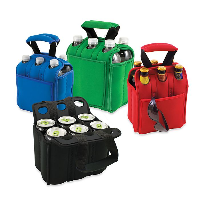 Alternate image 1 for Picnic Time® Six Pack Insulated Beverage Carrier