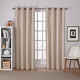 Raw Silk 2-Pack Grommet Top Room Darkening Window Curtain Panels