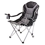 Picnic Time® Reclining Camp Chair in Black