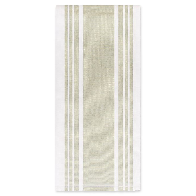 Alternate image 1 for All-Clad Striped Dual Kitchen Towel in Fennel