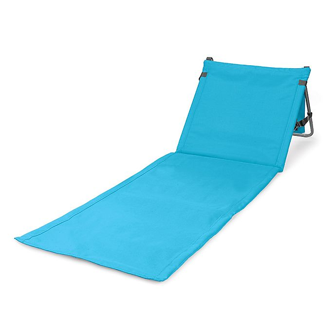 Alternate image 1 for Picnic Time® Beachcomber Portable Beach Mat in Blue