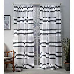 Monet 84-Inch Rod Pocket Window Curtain Panel Pair in Indigo