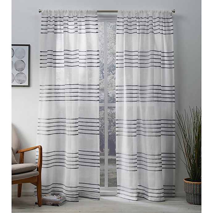 Alternate image 1 for Monet 84-Inch Rod Pocket Window Curtain Panel Pair in Silver