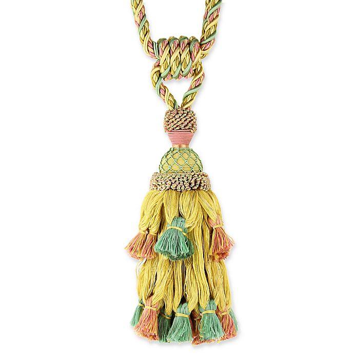 Alternate image 1 for Fantasy Tassel Tie Back in Pink/Green/Gold