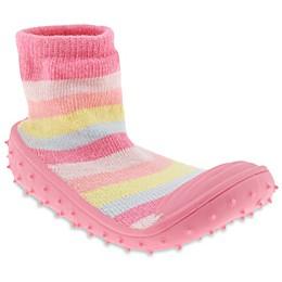 Capelli New York Pastel Stripe Slipper Socks