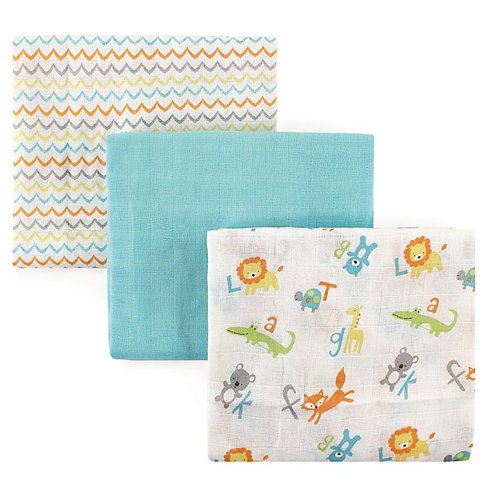 Alternate image 1 for Luvable Friends® 3-Pack Muslin Swaddle Blankets
