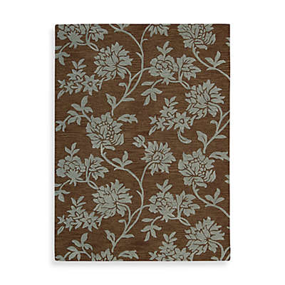 "Nourison Skyland 5'6"" x 7'5"" Hand Tufted Area Rug in Chocolate"