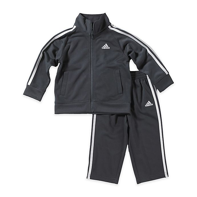 adidas® 2 Piece Tricot Tracksuit Set in Grey | buybuy BABY