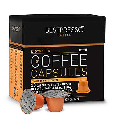 Bestpresso 20-Count Ristretto Espresso Capsules