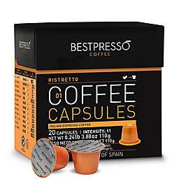 Bestpresso Ristretto Espresso Capsules 20-Count