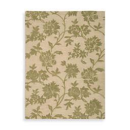 Nourison Skyland Floral Rug in Ivory/Green