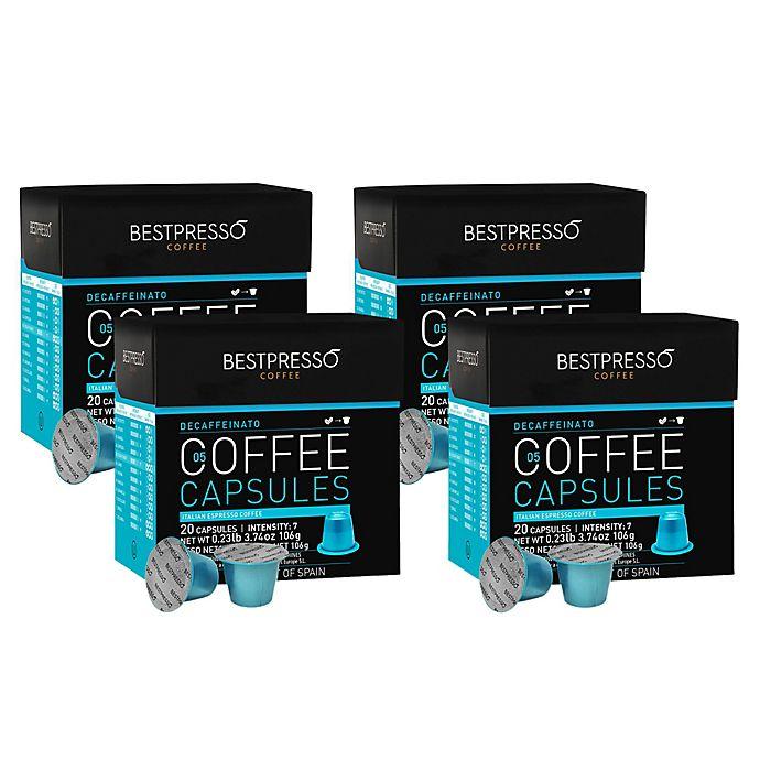 Alternate image 1 for Bestpresso 80-Count Decaffeinato Espresso Capsules