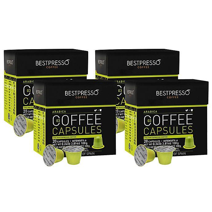 Alternate image 1 for Bestpresso 80-Count Arabica Espresso Capsules