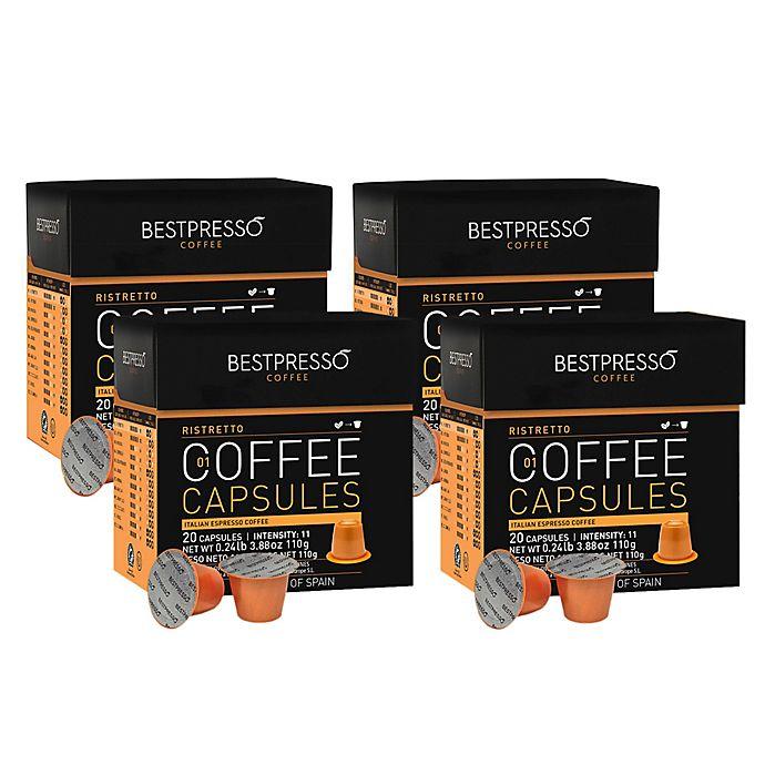 Alternate image 1 for Bestpresso 80-Count Ristretto Espresso Capsules