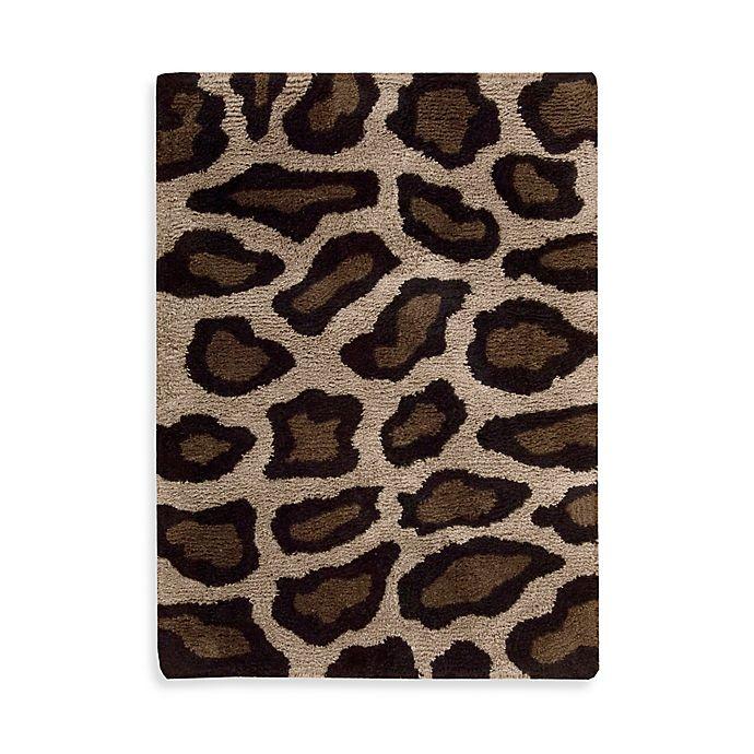 Nourison Splendor Leopard Rug In Beige/Black