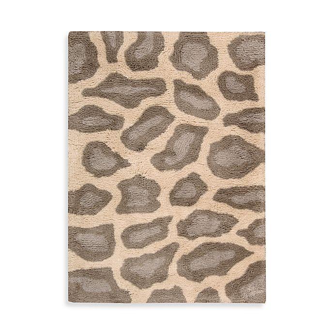 Animal Print Bath Rug: Nourison Splendor Leopard Print Rug In Beige