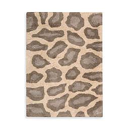 Nourison Splendor Leopard Print Rug in Beige