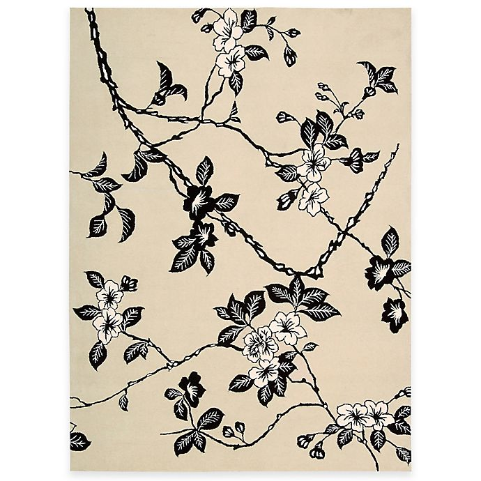 Alternate image 1 for Nourison Modern Elegance Hand Tufted Rug in Black/White