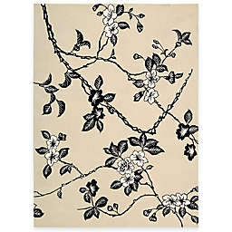 Nourison Modern Elegance Hand Tufted Rug in Black/White