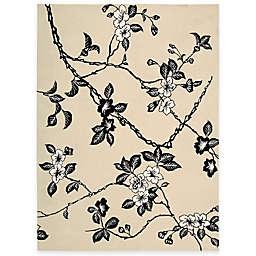 Nourison Modern Elegance Hand Tufted Rug in Black/White