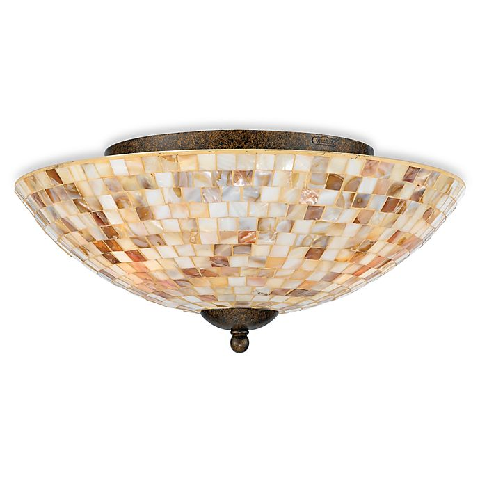 Alternate image 1 for Quoizel® Monterey Mosaic Flush-Mount Ceiling Fixture