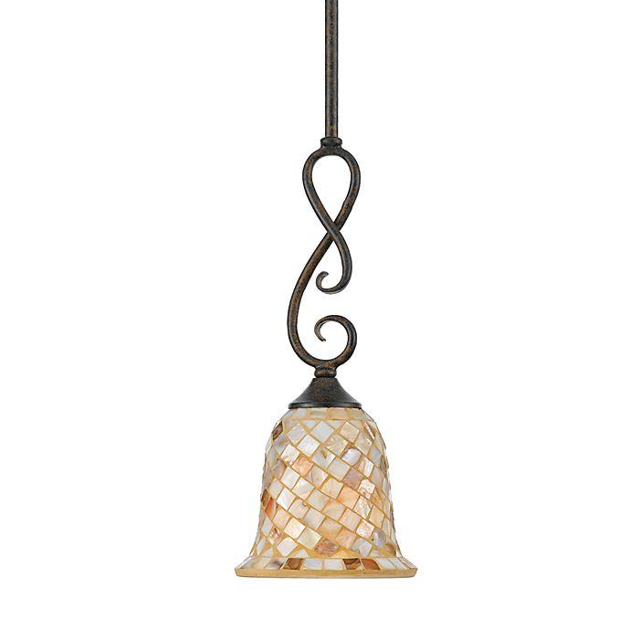 Alternate image 1 for Quoizel® Monterey Mosaic Mini Pendant