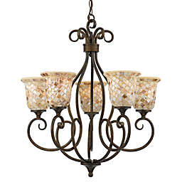 Quoizel® Monterey Mosaic 5-Light Chandelier