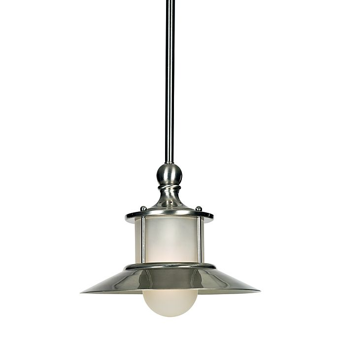 Alternate image 1 for Quoizel® New England 9.5-Inch Mini Pendant in Brushed Nickel