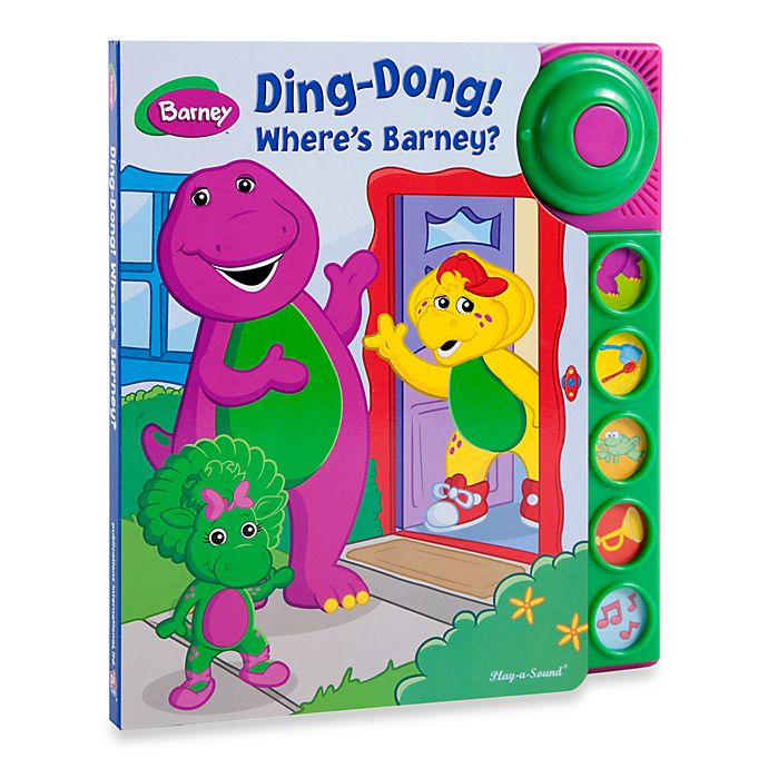 Ding Dong - Here's Barney! Play-a-Sound Board Book | Bed