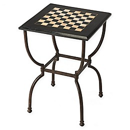 Butler Specialty Company Metal and Fossil Stone Game Table