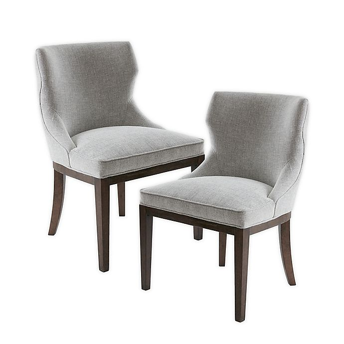 Madison Park Signature Hutton Microfiber Upholstered Dining Chairs Set Of 2 Bed Bath Beyond