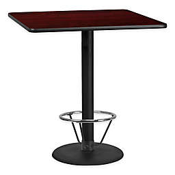 Flash Furniture 42-Inch Square Laminate Table with Round Base