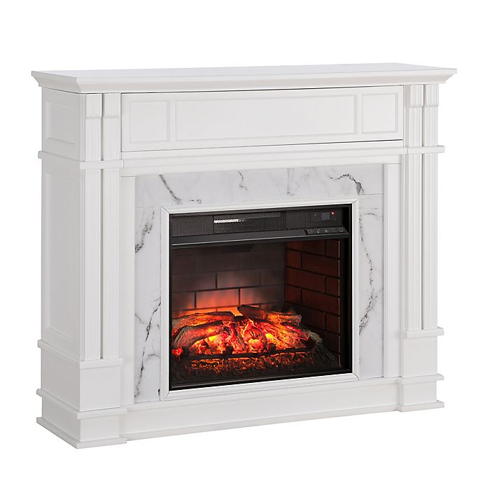 Alternate image 1 for Southern Enterprises Highgate Infrared Media Fireplace in White