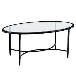 Southern Enterprises Quinton Metal and Glass Cocktail Table