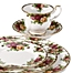 Part of the Royal Albert Old Country Roses Dinnerware Collection