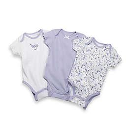 Little Me Lavender Blossom Bodysuits (Set of 3)