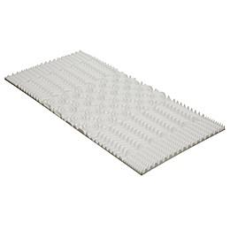 Twin XL  5-Zone Convoluted Memory Foam Mattress Topper in White