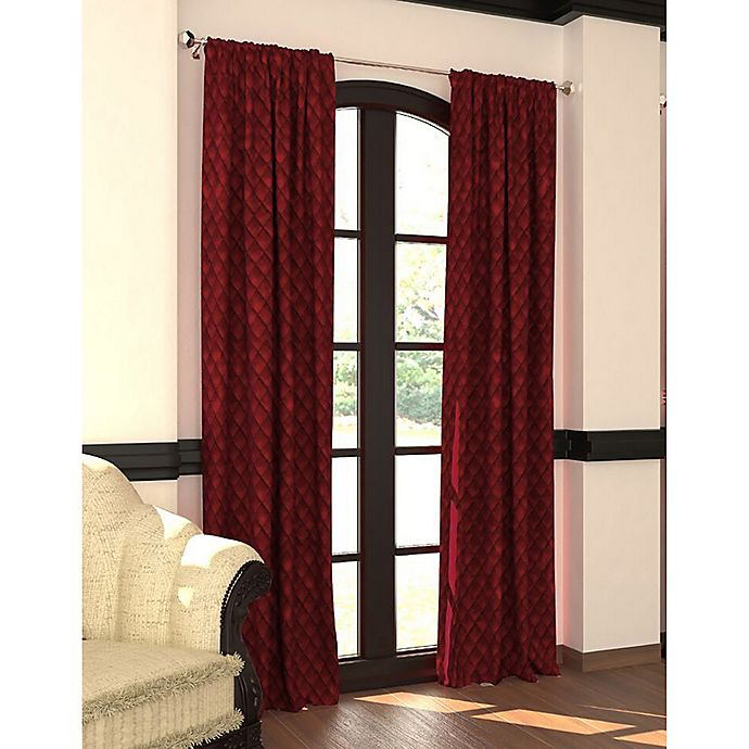 Alternate image 1 for Designers' Select™ Emerson Rod Pocket/Back Tab Window Curtain Panel