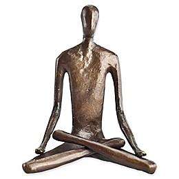 Danya B. Bronze Lotus Pose Yoga Sculpture