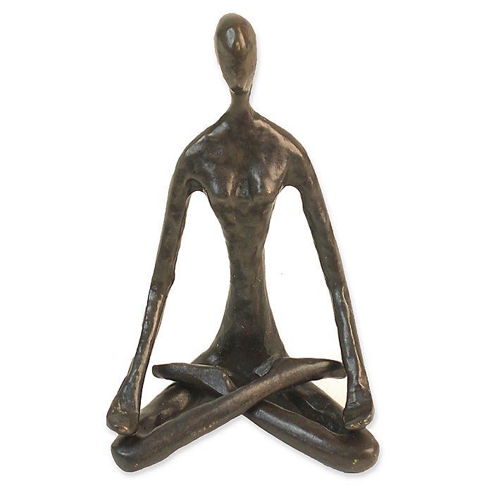 Alternate image 1 for Danya B. Bronze Female Lotus Pose Yoga Sculpture