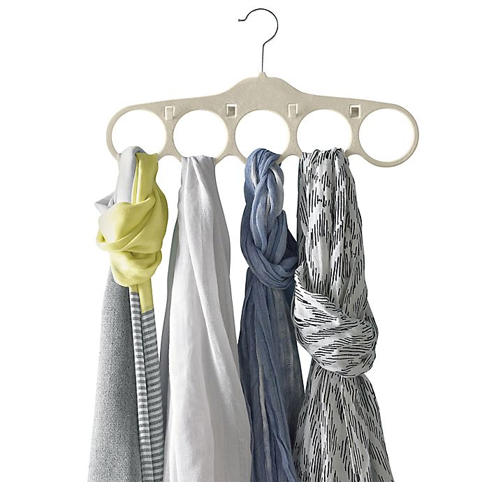 Real Simple 174 Slimline Scarf And Belt Hangers In Stone Set