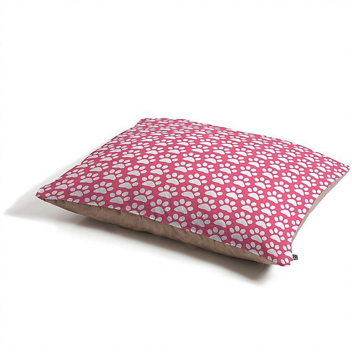 Alternate image 1 for Deny Designs Paw Prints by Allyson Johnson Pet Bed in Pink