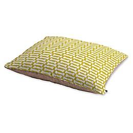 Deny Designs Allyson Johnson Fleece Dog Bones Pet Bed in Chartreuse