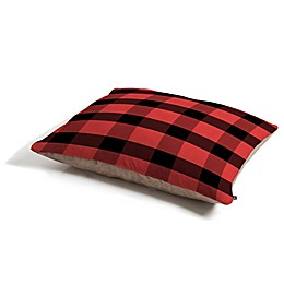 Deny Designs Allyson Johnson Winter Plaid Pet Bed in Black/Red